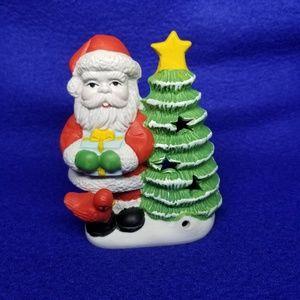 Vintage Santa  Tea Light holder